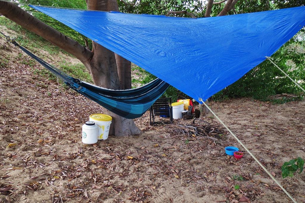 acampamento para chuva